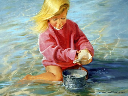 Donald Zolan children painting - donald zolan, art, children painting, play