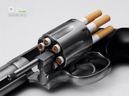 Smoking Kills - gun, cg, smoking, peole