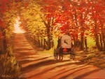 Amish Buggy In Autumn