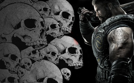 DOM SKALLS - gears of war 3, games, jt, cool, 3d, new, linkin park, entertainment, cog, iphon 4, fire, red, dom, video games, best, gow 3, avatar, marcus finix, angels
