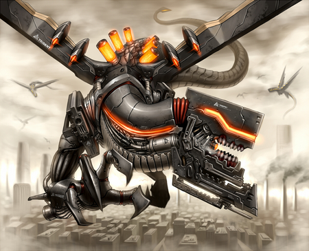Mecha Dragon - dragon, cool, awesome, mecha