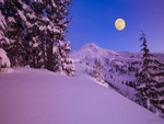 Fullmoon and Pink Snow