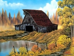 Rustic barn by Bob Ross