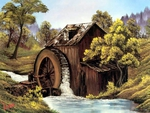 The old mill by Bob Ross