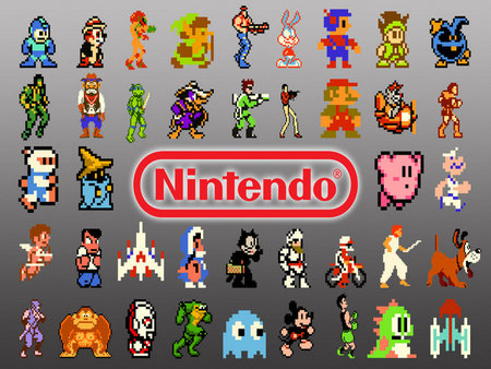 Classic Video Game Characters Wallpaper
