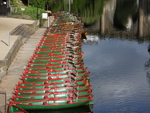 Rowing boats at Nidd