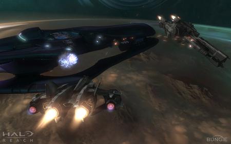Cruiser Battle - halo, halo reach, bungie, spaceships