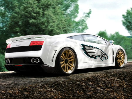 Lamborghini Gallardo - car show, lp 560, lamborghini, tuning, gallardo, photoshop, gimp