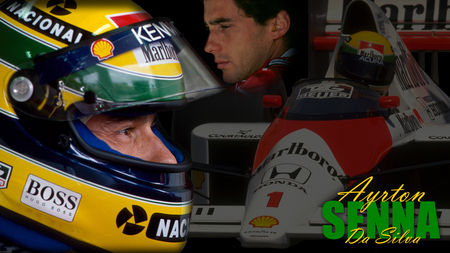 Ayrton Senna Tribute Auto Racing Sports Background