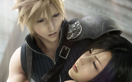 Cloud & Tifa - cloud, game, advent children, tifa, final fantasy