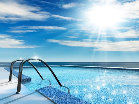 Swimming Pool - swimming pool, water, sun, beach