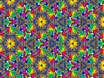 The colourful kaleidoscopic eye