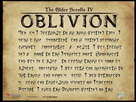 Oblivion - game, oblivian, adventure, scroll