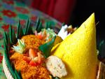 Indonesian Food Named Tumpeng: the Yellow Rice
