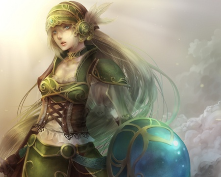 Warrior anime fantasy abstract background wallpapers - Anime female warrior ...