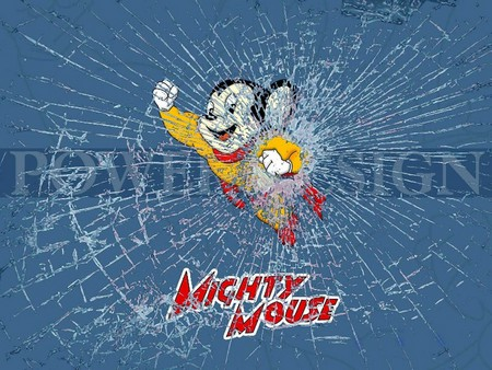 Mighty Mouse Funny Entertainment Background Wallpapers