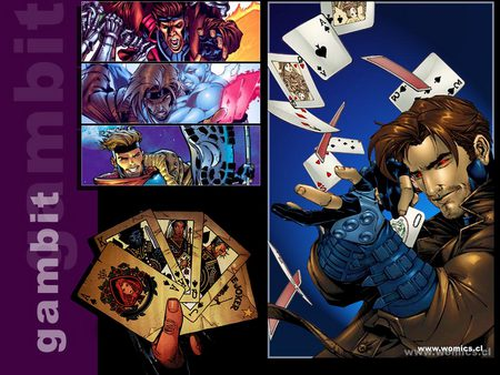 Gambit - fantasy, gambit, comic, cards