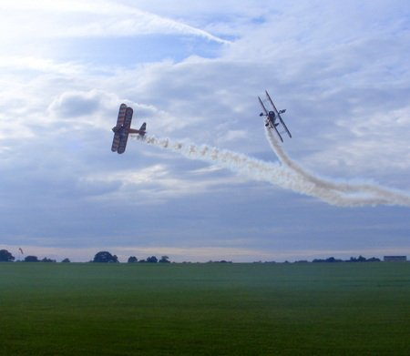 wing-walkers. - girls, planes, daring, excitment