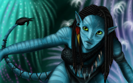 Bioluminescence - female, aavatar, cg, abstract, woman, 3d, girl, animation, species, alien