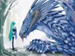 Hatsune Miku & a Dragon