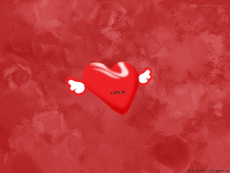 Love - red, wallpaper, love, heart