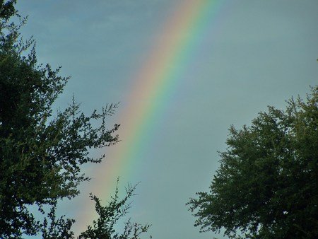 Somewhere over the rainbow - color, rainbow, light, sky