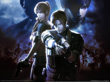 The Darkside Chronicles - gun, hd, adventure, game, resident evil, shooting, leon scott kennedy, action