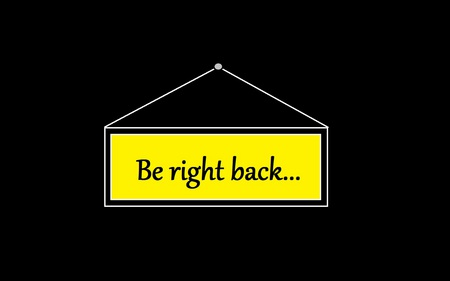 Be Right Back... - volto logo, be right back, funny, ja volto