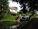 Locking through on the Grand Union Canal
