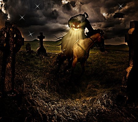 The Headless Horseman~ - halloween, headless, hessian, horseman, sleepy hallow