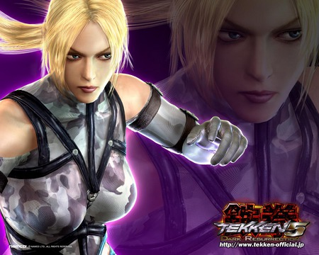 Nina Williams - fighting, hd, action, video game, tekken- dark resurrection, adventure, tekken 5, nina williams, tekken