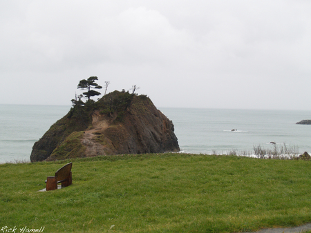 Battle Rock - oregon, war, indian, port orford, battle rock