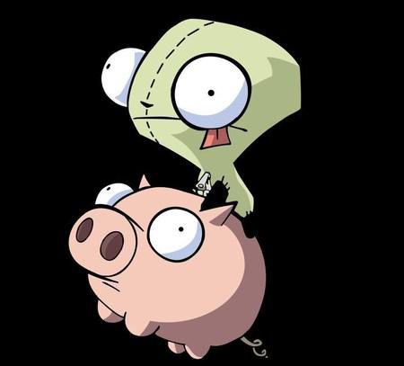 Gir And Pig - gir, pig, cartoon, funny, invader zim, cute