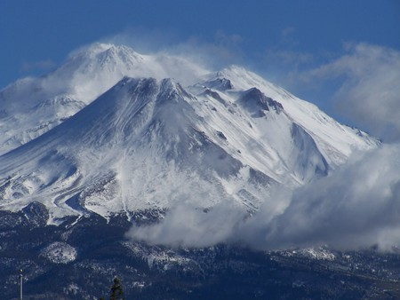 Mt Shasta - big, beauitful, snow, cold, california, mt shasta, nature, mountain