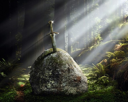 Excalibur (3D) - excalibur, dark art, 3d and cg, its so cool, mysthic, fantasy, sorcerer, 3d, dark age, dark, myth, tales, legend