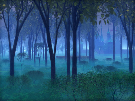 Enchanted Forest Fantasy Amp Abstract Background