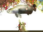 Hatsune Miku & a Big Fish