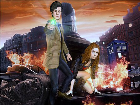 11 On The Defensive - matt smith, doctor who, 3d, karen gillan