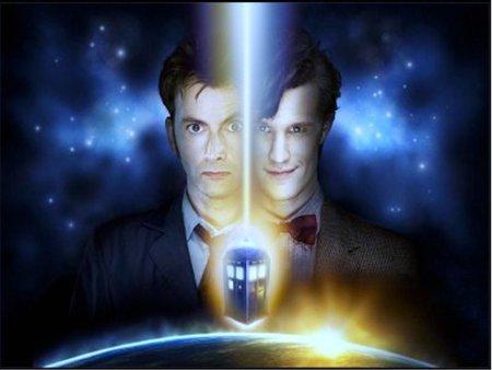 Double Down - doctor who, tardis, david tennant, matt smith