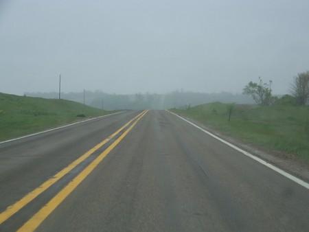 Overcast Highway - highway, overcast, road, fog