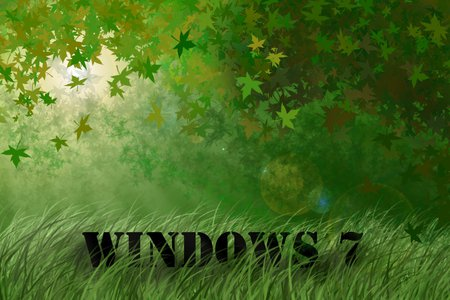 windows 7 grass XD - windows, grass, 7, computer, nature, microsoft, system, internet