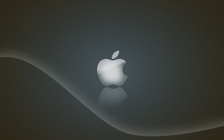 silver style apple ^-^ - apple, mac, computer, technology, system, silver, wave