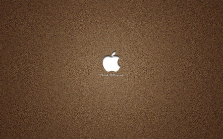 on sand - apple, sand, mac, brown, silve, computer, technology, system