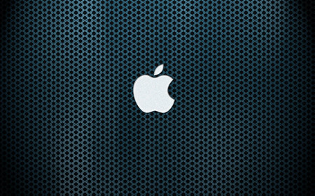 silver blue apple - apple, mac, computer, technology, system, silver, blue