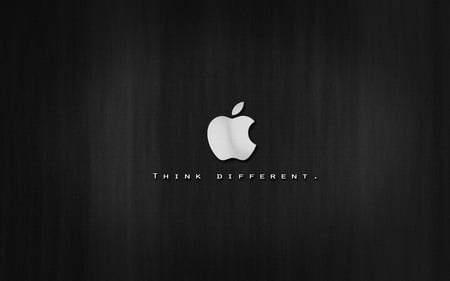 just think diffrent-Apple - computer, system, apple, mac, black, silver, com, technology