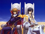 Suzake and Lelouch