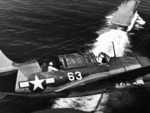 Curtiss Helldiver with USS Yorktown