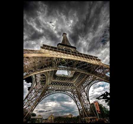 Eiffel Tower - france, monuments, cool, clouds, sky, hot, towers, eiffel
