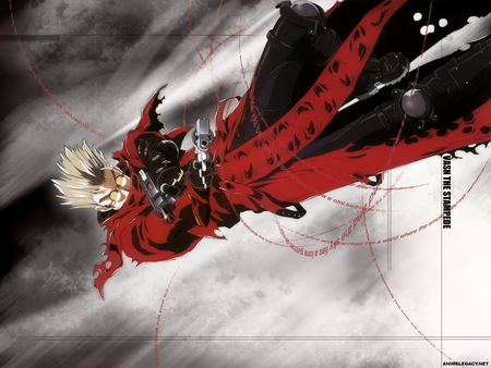 VASH THE STAMPEDE - vash, stampede, gun, anime, the, charge