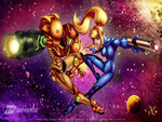 Samus Armor and Samus Zero Suit